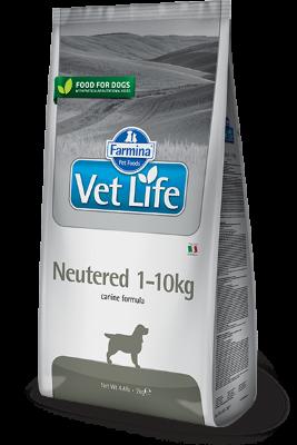 Сухой корм Farmina Vet Life Neutered 1-10kg для стерилизованных сук и кастрированных кобелей до 10кг