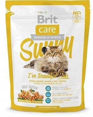 Гипоаллергенный cухой корм для кошек Brit Care Cat Sunny Beautiful Hair для ухода за кожей и шерстью