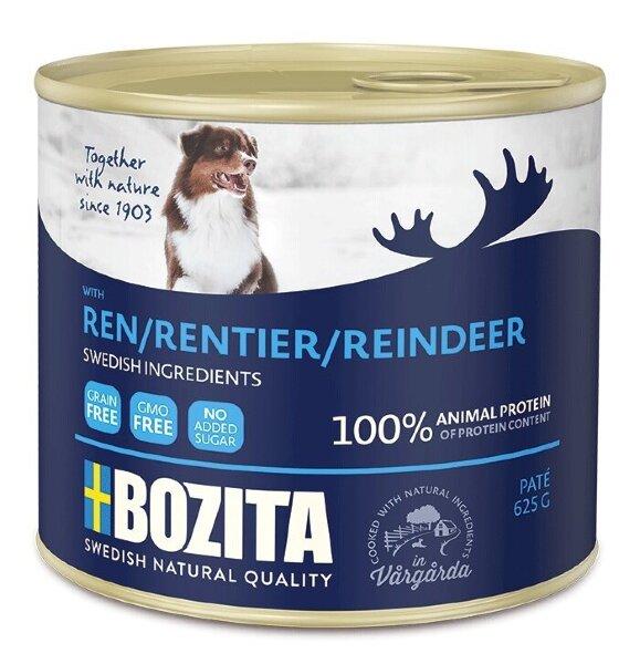 Консервы Bozita Reindeer для собак мясной паштет с Оленем ж/банка