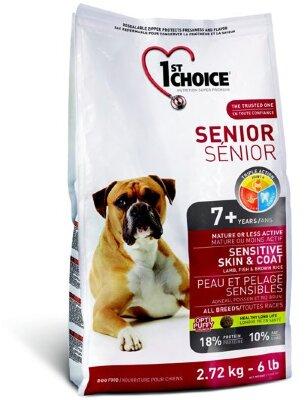 Cухой корм 1st Choice Senior Sensitive Skin & Coat для пожилых собак с чувствительной кожей и шерсть