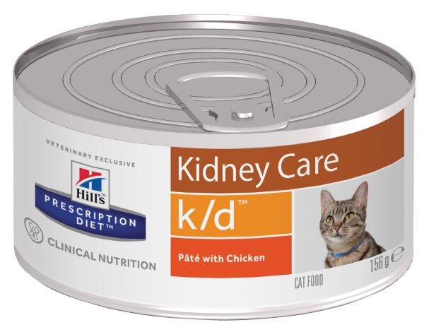 Консервы Hill's Prescription Diet k/d Pate для лечения заболеваний почек для кошек, 156г