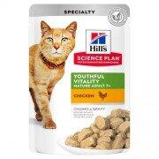Паучи Hill's Science Plan Youthful Vitality для кошек старшего возраста, с курицей, 85г