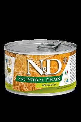 Консервы Farmina N&D Ancestral Grain Adult Boar&Apple для взрослых собак с кабаном и яблоком