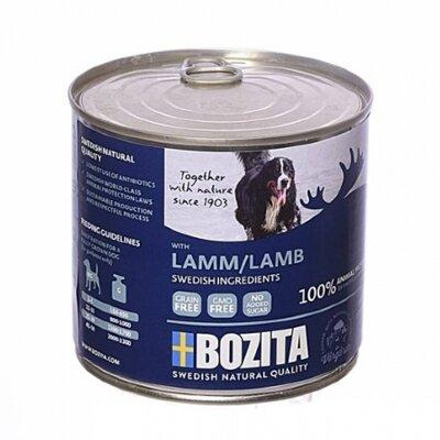 Консервы Bozita Lamb для собак мясной паштет с Ягненком ж/банка