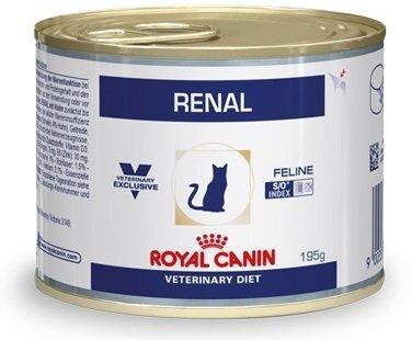 Консервы Royal Canin Renal Feline для кошек при хронической почечной недостаточности с курицей, 195 г