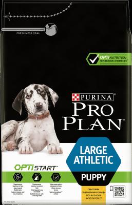 Сухой корм Pro Plan Large Puppy Athletic для щенков крупных пород с атлетическим телосложением