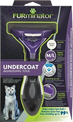 FURminator M/L для больших кошек с короткой шерстью