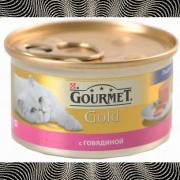 Консервы GOURMET GOLD для кошек, Говядина, 24шт x 85г
