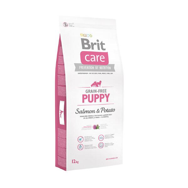 Сухой корм Brit Care Grain-free Puppy Salmon & Potato для щенков и молодых собак всех пород с лососем и картофелем