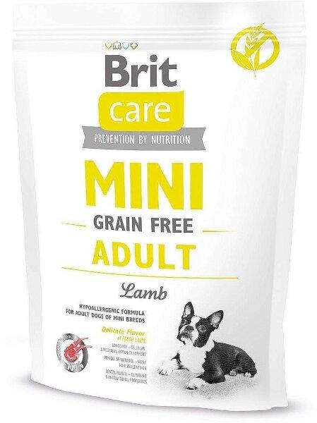 Сухой корм Brit Care MINI Adult Lamb беззерновой, с ягненком для взрослых собак миниатюрных пород