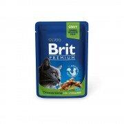 Паучи Brit Premium для стерилизованных кошек и котов, 100г
