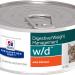Консервы Hill's Prescription Diet w/d для лечения сахарного диабета, запоров, колитов и контроля веса для кошек, 24шт x 156г