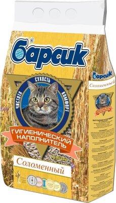 Наполнитель для кошачьего туалета Барсик Соломенный, 4,54 л