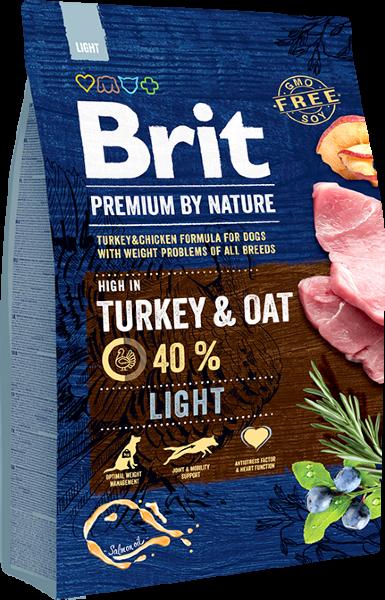 Сухой корм Brit by Nature Premium Light для собак всех пород, склонных к полноте