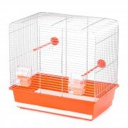 Клетка для птиц Inter-Zoo LUNA (оцинкованная), 45x28x42,5см