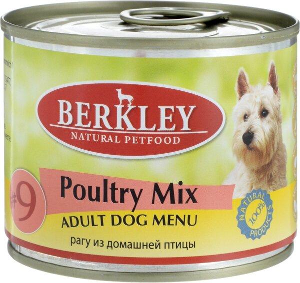 Консервы для собак Berkley №9 рагу из птицы, 200г