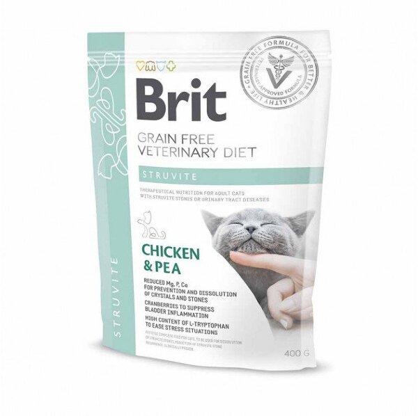 Сухой корм Brit Veterinary Diet Cat Grain free Struvite беззерновой, при струвитном типе МКБ