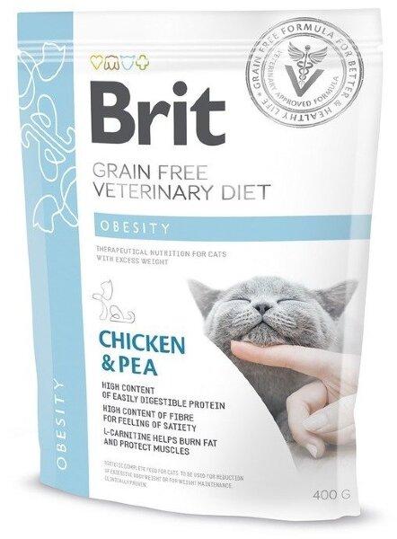 Сухой корм Brit Veterinary Diet Cat Grain free Obesity беззерновой, при избыточном весе и ожирении
