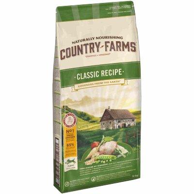 Сухой корм Country Farms классический полнорационный для щенков, с высоким содержанием курицы