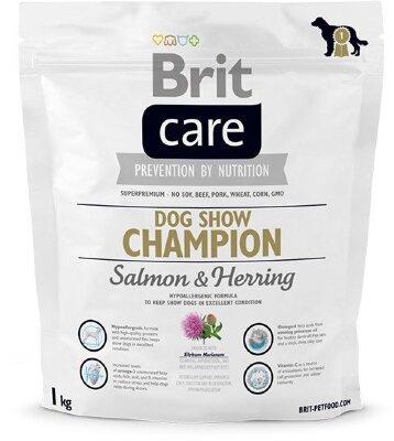 Сухой корм Brit Care Dog Show Champion для поддержания выставочных собак в отличной форме, с сельдью и рисом