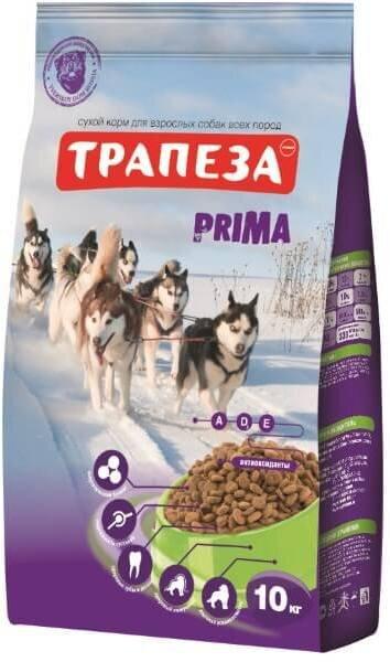Сухой корм Трапеза Прима для активных собак