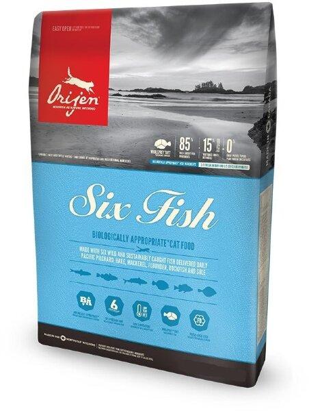 Сухой корм  для котят и кошек Orijen Cat 6 Fish 85/15 беззерновой, 6 видов рыбы