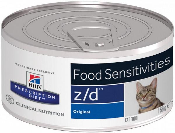 Консервы Hill's Prescription Diet z/d для лечения острых пищевых аллергий для кошек, 24шт x 156г