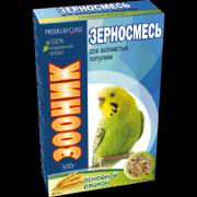 """Зерносмесь для волнистых попугаев Зооник """"Основной рацион"""" Премиум, 500г"""