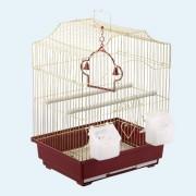 Клетка для птиц №1 ДКПА 112 фигурная, 30х23х39см