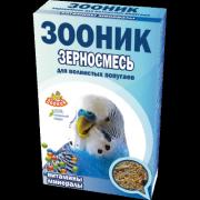 """Зерносмесь для волнистых попугаев Зооник """"С витаминами и минералами"""" Стандарт, 500г"""