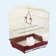 Клетка для птиц №1 ДКПА 412 фигурная, 35х28х46см