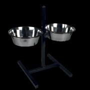 Миски для собак металлические 2,8л Зооник (бронза) с квадратной подставкой