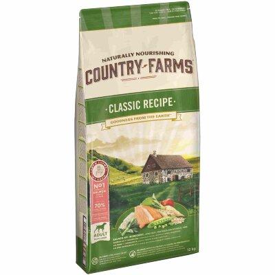 Сухой корм Country Farms классический полнорационный для взрослых собак, с высоким содержанием лосося