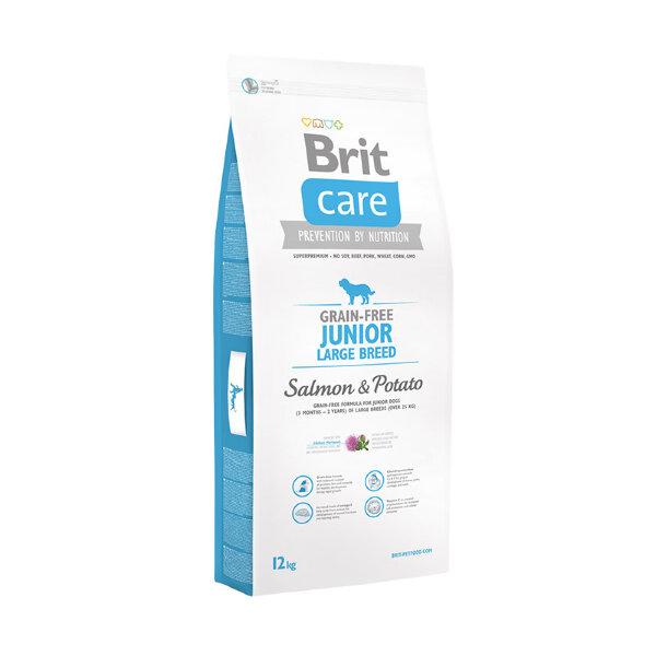 Сухой корм Brit Care Grain-free Junior Large Breed Salmon & Potato для молодых собак крупных пород