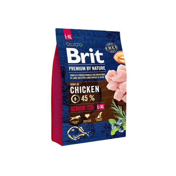 Сухой корм для пожилых собак крупных и гигантских пород Brit Premium by Nature Senior L+XL