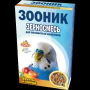 """Зерносмесь для волнистых попугаев Зооник """"С фруктами и овощами"""" Стандарт, 500г"""