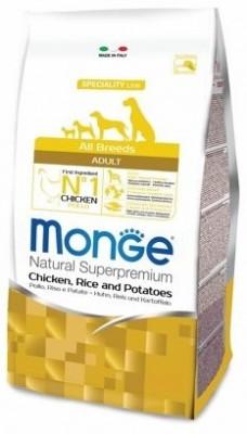 Сухой корм Monge Dog Speciality для собак всех пород, Курица с рисом и картофелем, 2.5кг