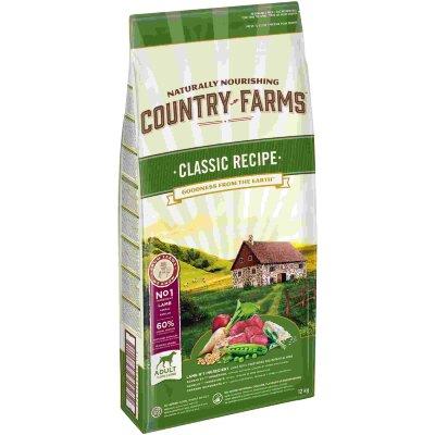 Сухой корм Country Farms классический полнорационный для взрослых собак, с высоким содержанием ягненка