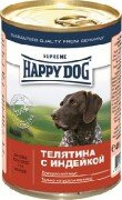 Консервы Happy Dog для собак 400 г (телятина с индейкой)