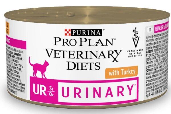 Консервы Pro Plan Veterinary Diets UR для кошек при МКБ, 24шт x 195г