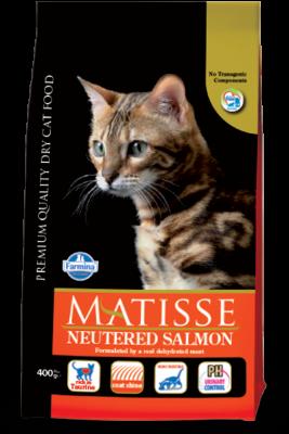 Сухой корм Farmina Matisse Neutered Salmon для стерилизованных кошек и кастрированных котов с лососем