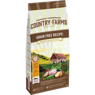 Сухой корм Country Farms беззерновой полнорационный для щенков, с высоким содержанием курицы