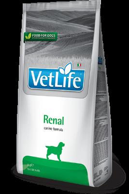 Сухой корм Farmina Vet Life Renal при заболеваниях почек у собак