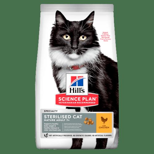 Сухой корм Hill's Science Plan для стерилизованных кошек старшего возраста, с курицей