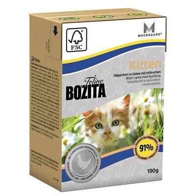 Консервы Bozita Feline для котят и беременных кошек кусочки с Курицей в желе, 190г