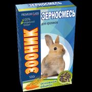 """Зерносмесь для кроликов Зооник """"Основной рацион"""" Премиум, 400 г"""