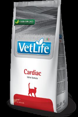 Cухой корм для кошек Farmina Vet Life Cat Cardiac для поддержания работы сердца при хронической сердечной недостаточности