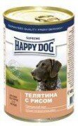 Консервы Happy Dog для собак 400 г (телятина с рисом)