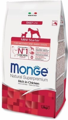 Сухой корм Monge Dog Mini Starter для щенков мелких пород