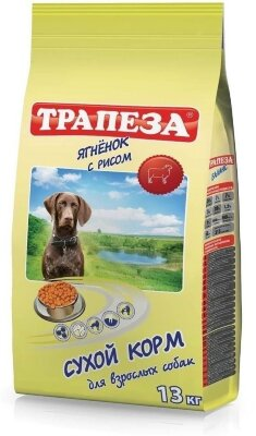 Сухой корм Трапеза с ягненком и рисом для собак с чувствительным пищеварением или аллергией